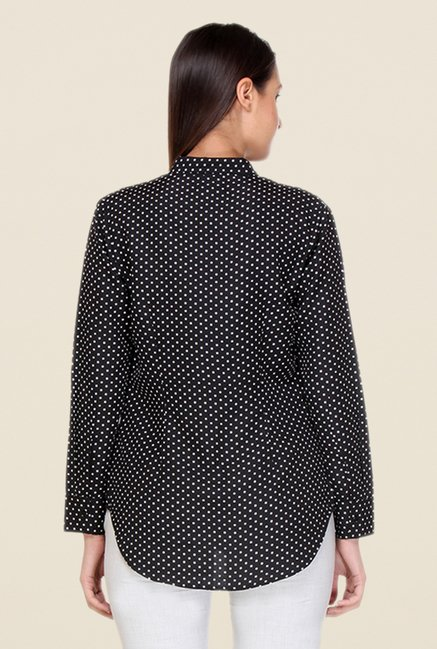 Kaaryah Black Polka Dot Shirt