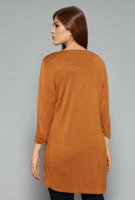 Sassy Soda by Westside Tan Solid Shrug