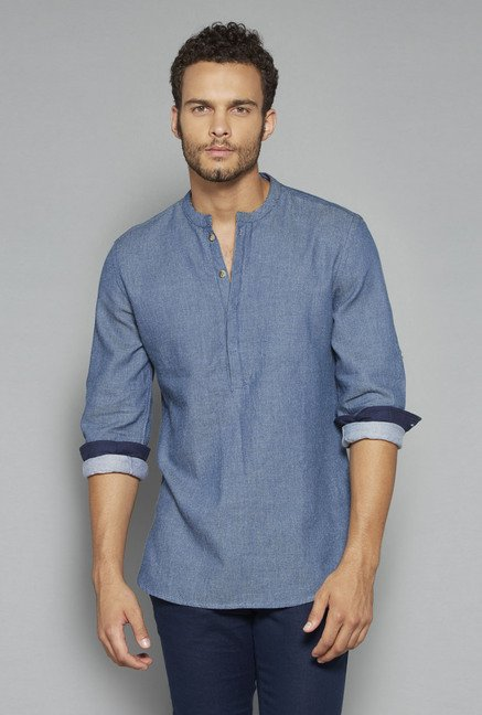 ETA by Westside Indigo Textured Shirt
