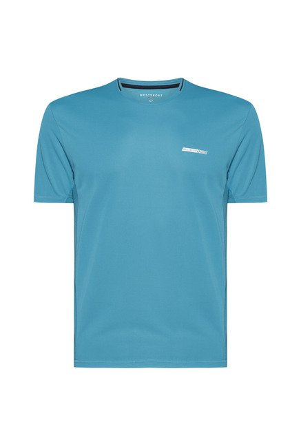 Westsport by Westside Aqua Solid T Shirt