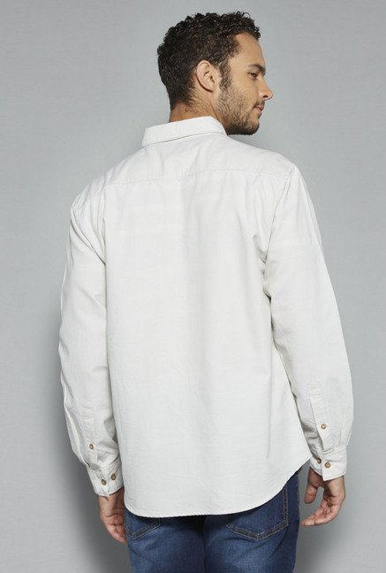 Westsport by Westside Off White Solid Shirt