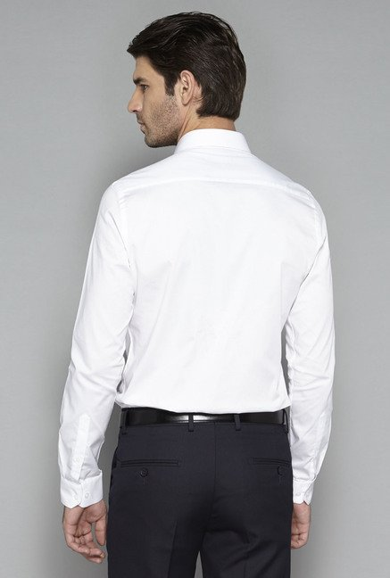 Weststreet by Westside White Solid Shirt