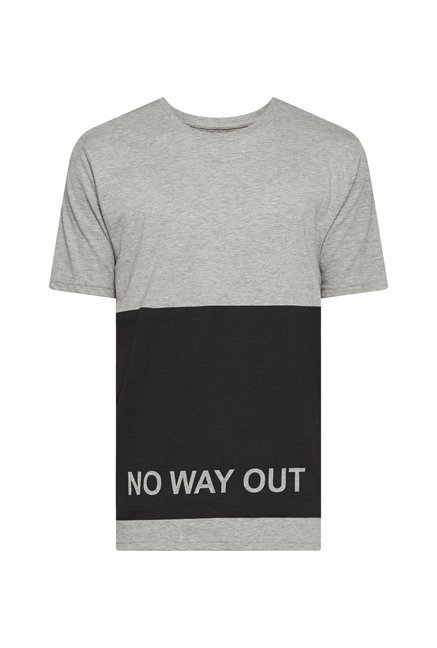 Nuon Men by Westside Grey Printed T Shirt