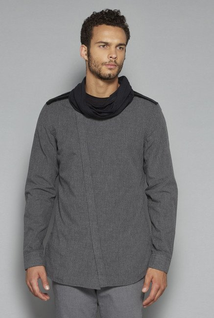 ETA by Westside Grey Textured Shirt