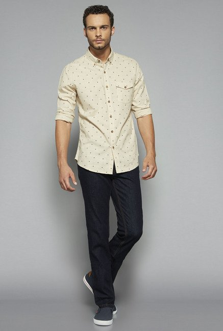 Westsport by Westside Beige Printed Shirt