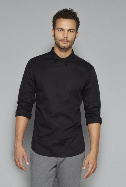ETA by Westside Black Solid Shirt