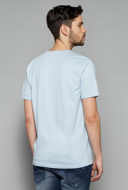 Nuon Men by Westside Sky Blue Printed T Shirt