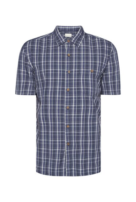 Westsport by Westside Indigo Checks Shirt