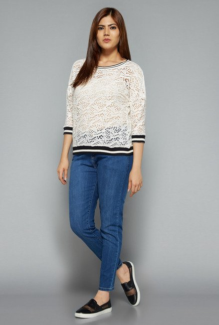 Sassy Soda by Westside White Lace Top