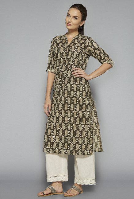 Utsa by Westside Brown Printed Kurta