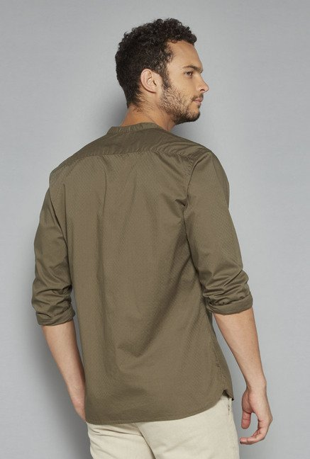 ETA by Westside Olive Self Print Shirt