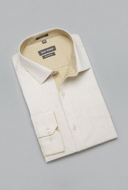 Weststreet by Westside Beige Printed Shirt