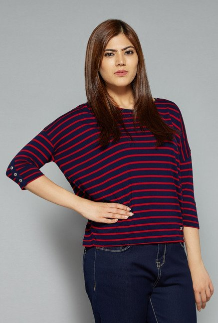 Sassy Soda by Westside Navy & Red Claudia Top