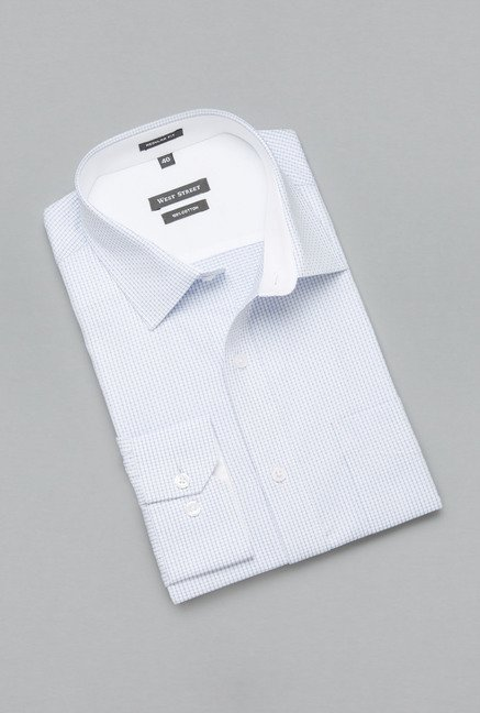 Weststreet by Westside Blue Checks Shirt