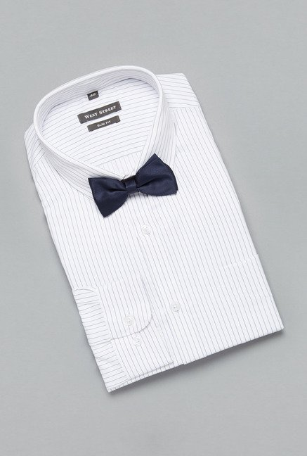 Weststreet by Westside White Striped Shirt