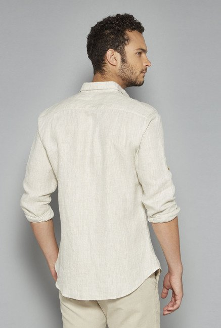 ETA by Westside Beige Solid Shirt