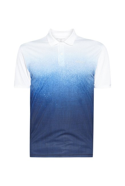 Westsport by Westside Blue & White Slim Fit Polo T Shirt