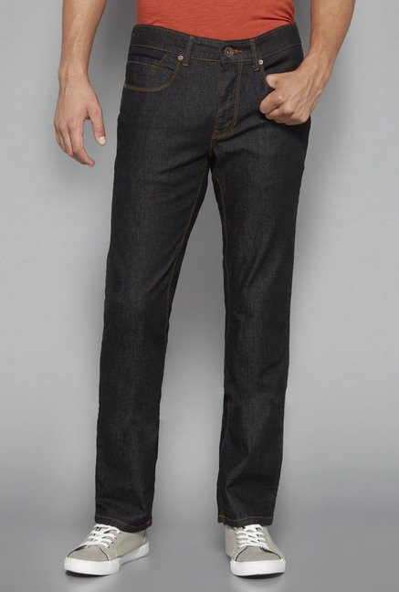 Westsport by Westside Black Raw Denim Jeans