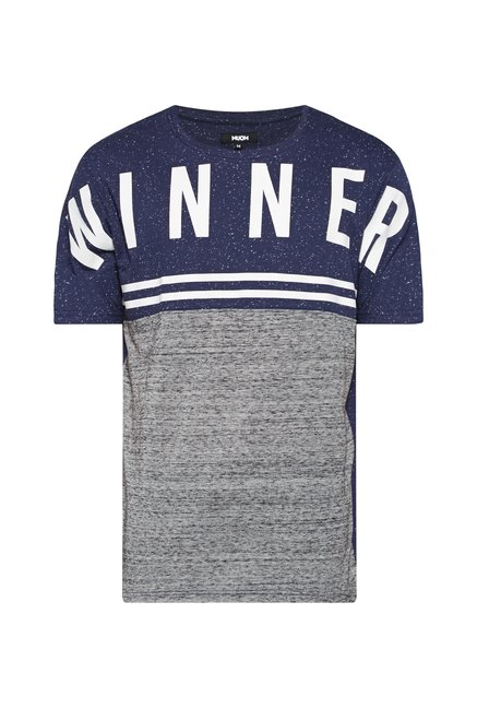 Nuon Men by Westside Navy Printed T Shirt