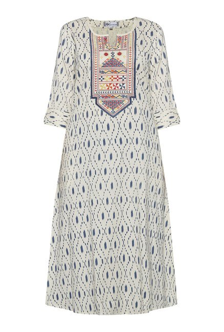 Utsa by Westside Off White Embroidered Kurta