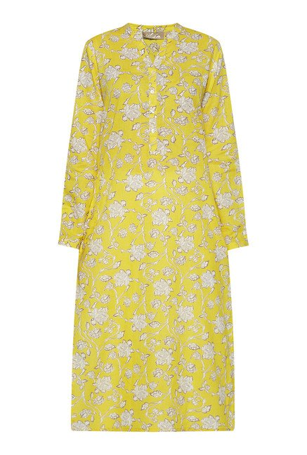 Utsa by Westside Yellow Floral Print Kurta
