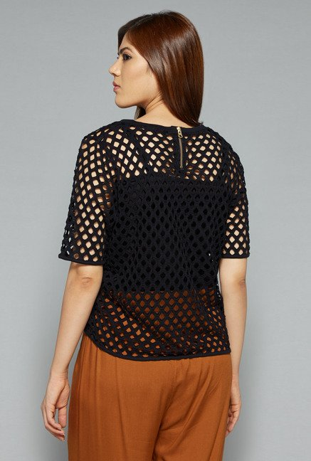 Sassy Soda by Westside Black Lace Top