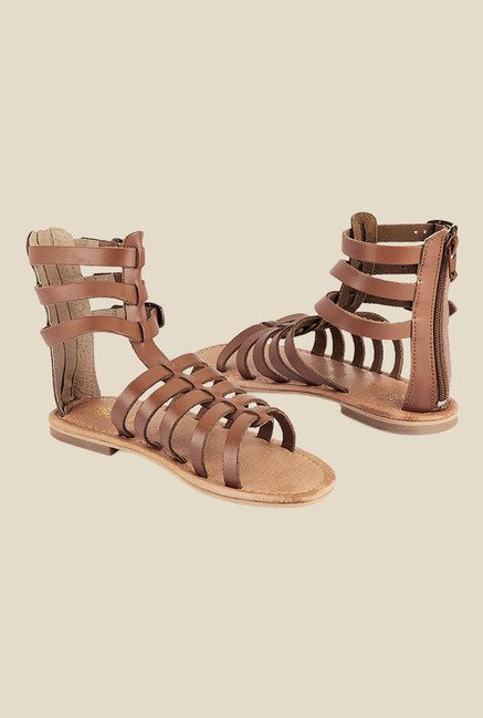 Tresmode Dusky Brown Gladiator Sandals