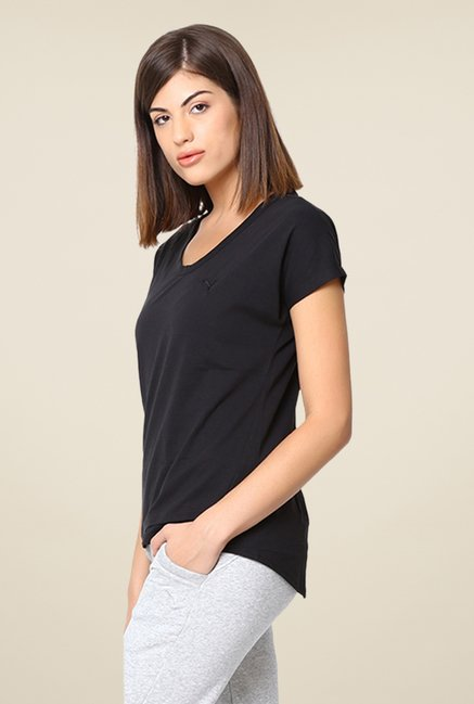 Puma Black Solid Tee