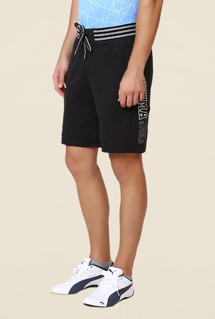 Puma Black Solid Bermuda Shorts