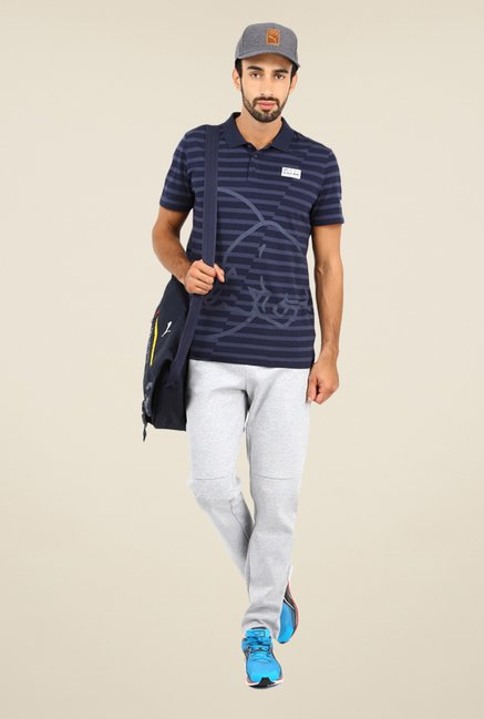 Puma Navy Striped T-shirt