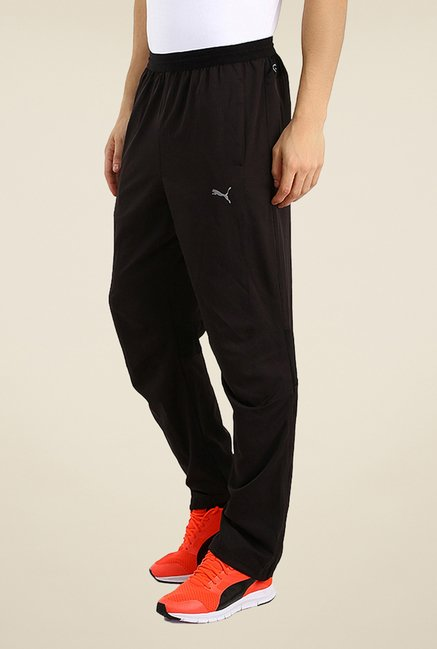 Puma Black Solid Trackpants