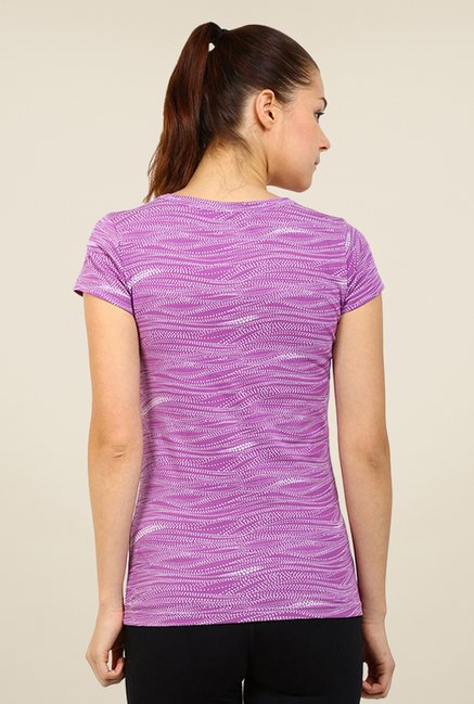 Puma Purple Printed Tee