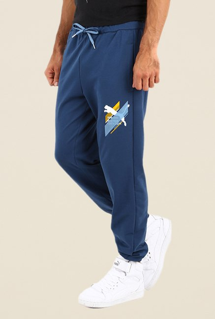 Puma Dark Blue Solid Joggers