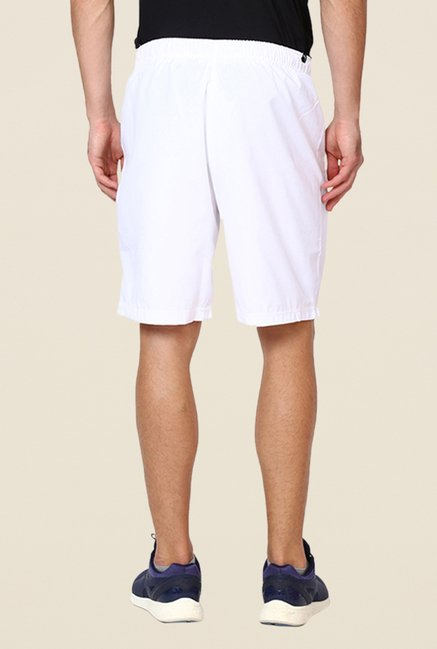 Puma White Solid Bermuda Shorts