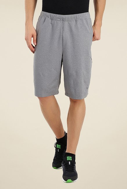 Puma Grey Solid Shorts