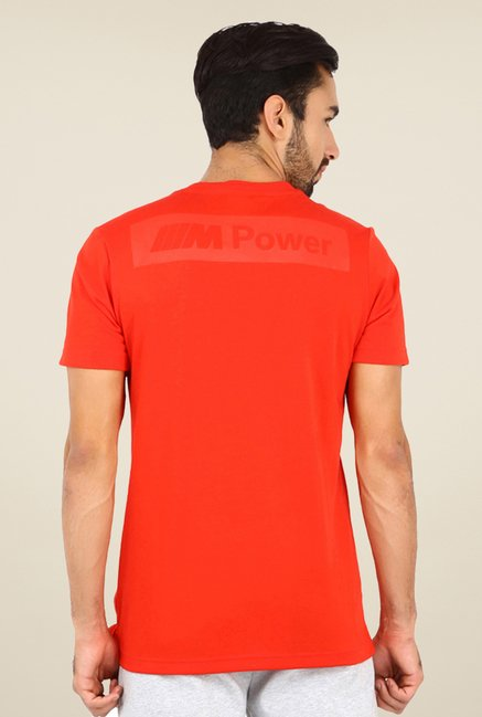 Puma BMW M Logo Red Graphic Printed T-shirt