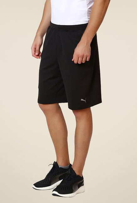 Puma Black Solid Shorts