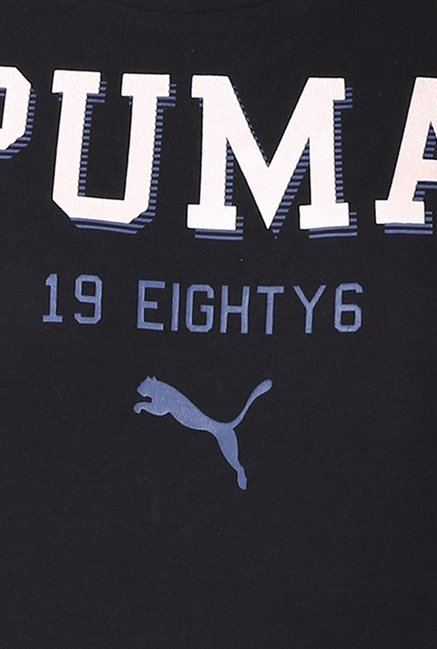 Puma Black Graphic Print Tee