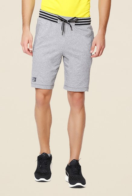 Puma Grey Solid Bermuda Shorts
