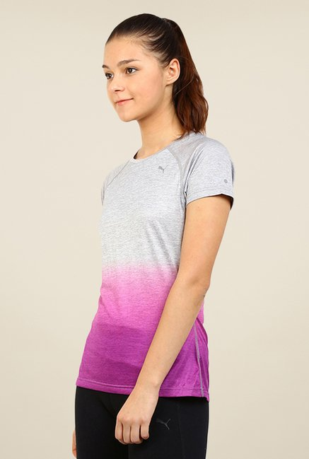 Puma Grey & Purple Ombre Print Tee