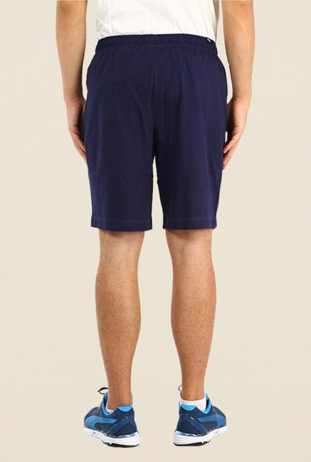 Puma Navy Solid Shorts
