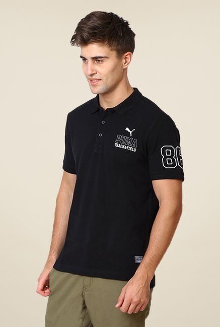 Puma Black Solid T-shirt