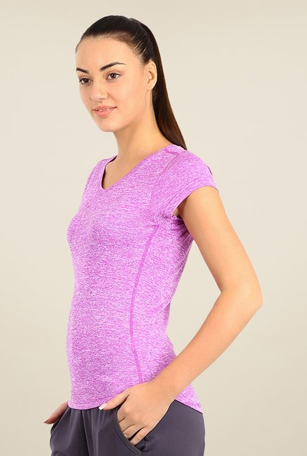 Puma Purple Solid Tee
