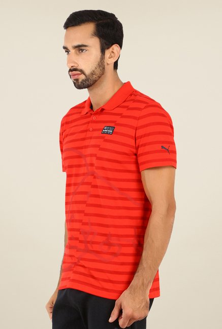 Puma Red Striped T-shirt