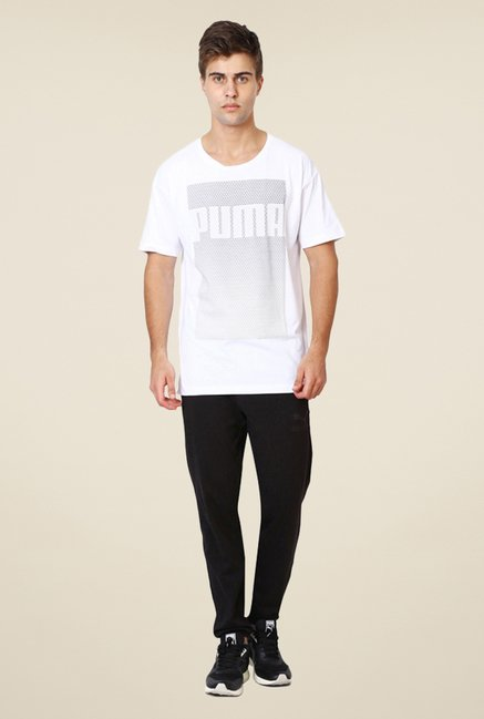 Puma White Graphic Printed T-shirt