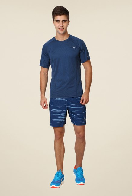 Puma Navy Solid T-shirt