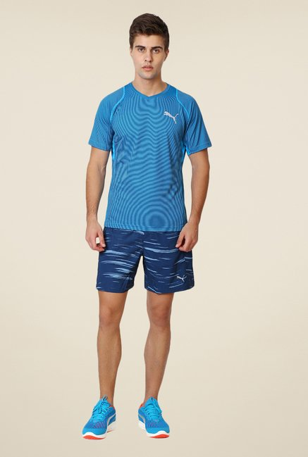 Puma Dark Blue Printed Shorts