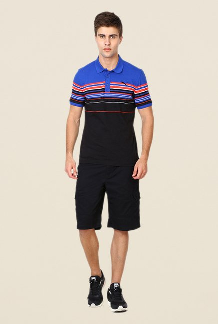 Puma Black & Blue Striped T-shirt