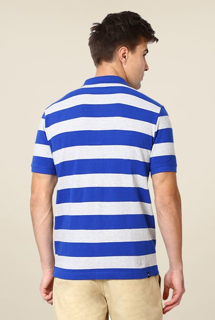 Puma Blue & Grey Striped T-shirt