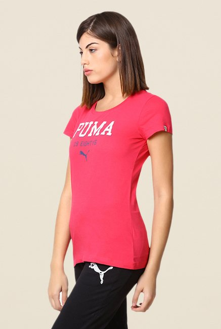 Puma Coral Graphic Print Tee